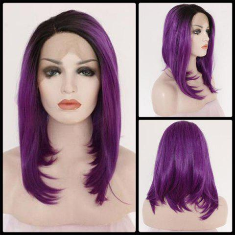 Best Medium Side Parting Straight Lace Front Synthetic Wig