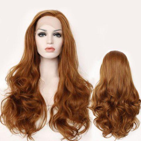 Shops Fascinating Long Side Parting Wavy Lace Front Synthetic Wig