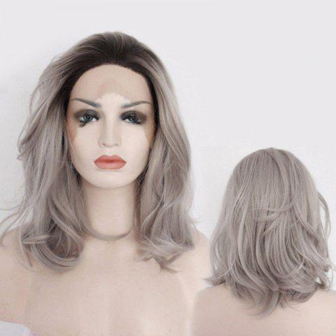 Trendy Medium Slightly Curled Fascinating Lace Front Synthetic Wig
