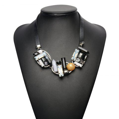 Outfit PU Leather Geometric Bullet Necklace