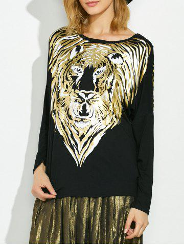 Chic Lion Gilding Maternity Tee BLACK ONE SIZE