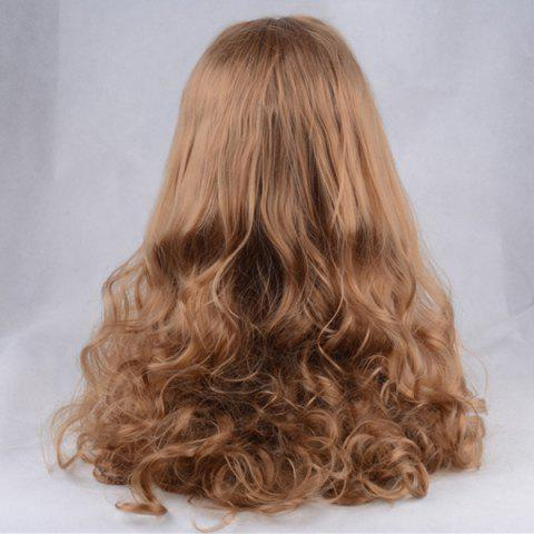 Store Shaggy Long Centre Parting Wavy Lace Front Synthetic Wig - COFFEE  Mobile