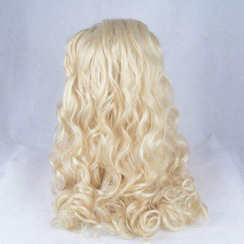 Online Shaggy Long Wavy Lace Front Synthetic Wig - GOLDEN  Mobile