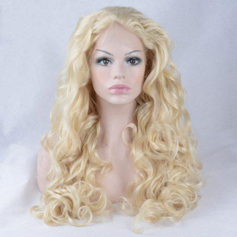 Buy Shaggy Long Wavy Lace Front Synthetic Wig - GOLDEN  Mobile