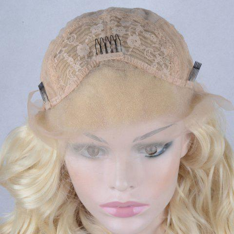 Discount Shaggy Long Wavy Lace Front Synthetic Wig - GOLDEN  Mobile
