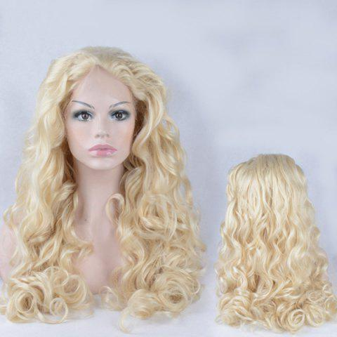 Store Shaggy Long Wavy Lace Front Synthetic Wig - GOLDEN  Mobile