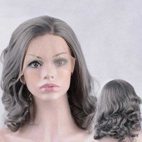 Unique Medium Side Parting Shaggy Wavy Lace Front Synthetic Wig