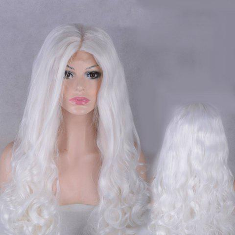 Outfits Long Middle Parting Shaggy Wavy Lace Front Synthetic Wig