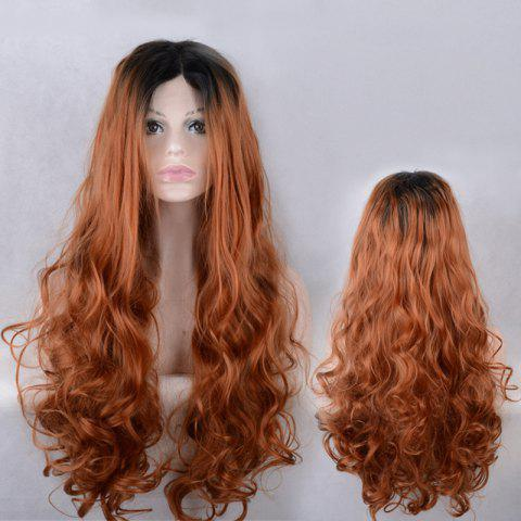 Shop Long Centre Parting Colormix Wavy Lace Front Synthetic Wig