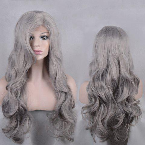 Latest Long Side Parting Shaggy Body Wave Lace Front Synthetic Wig