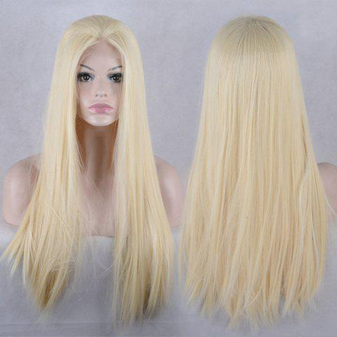 Affordable Natural Straight Long Lace Front Synthetic Wig