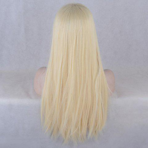 Cheap Natural Straight Long Lace Front Synthetic Wig - GOLDEN  Mobile