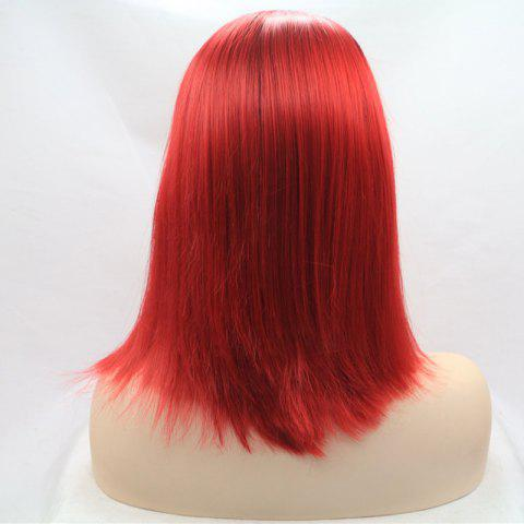 Fancy Medium Color Mixed Straight Lace Front Synthetic Wig - COLORMIX  Mobile
