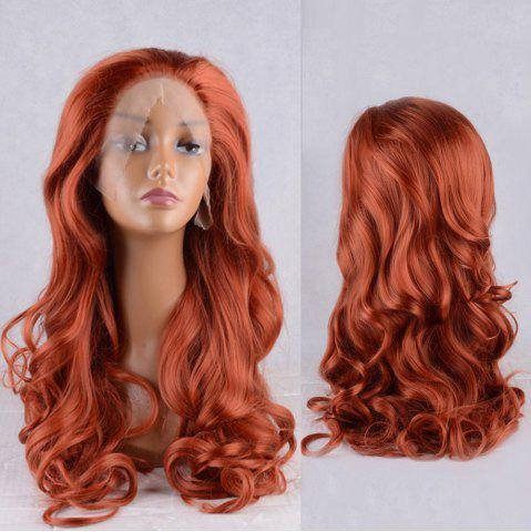 New Long Fluffy Wavy Lace Front Synthetic Wig