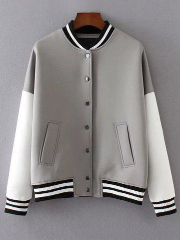 Latest Buttoned Loose Baseball Jacket