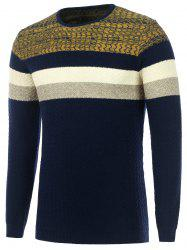 Color Matching Wavy Stripes Knitted Sweater -