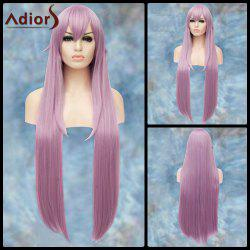 Adiors Gorgeous Long Side Bang Straight Lolita Synthetic Wig - LIGHT PURPLE