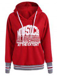 Pullover Varsity Striped Graphic Hoodie -