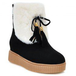 Increased Internal Tassels Faux Fur Snow Boots