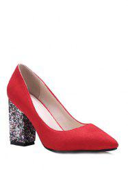 Glitter Sequined Pointed Toe Pumps