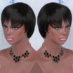 Spiffy Short Synthetic Full Bang Straight Wig