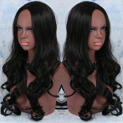 Long Synthetic Centre Parting Wavy Wig -
