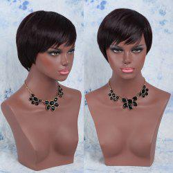Spiffy Short Synthetic Side Bang Straight Wig