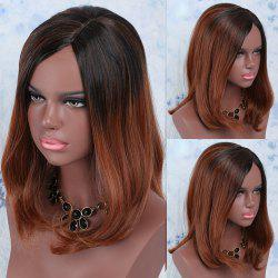 Medium Colormix Synthetic Side Parting Straight Wig