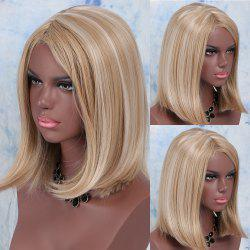 Medium Synthetic Side Parting Colormix Straight Wig