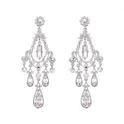 Teardrop Rhinestone Chandelier Earrings