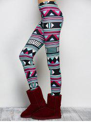 Stretchy Ornate Geometric Print Leggings