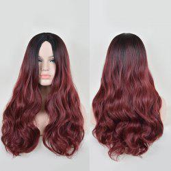 Faddish Long Middle Part Wavy Lace Front Synthetic Wig -