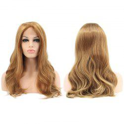 Faddish Long Wavy Lace Front Synthetic Wig -