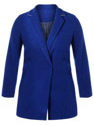 Plus Size Lapel Walker Coat