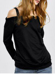 Off The Shoulder Loose Sweatshirt