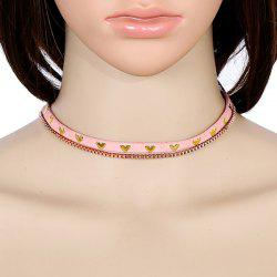 Faux Leather Heart Vintage Choker Necklace