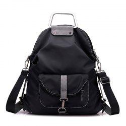 Nylon Buckles Colour Block Backpack