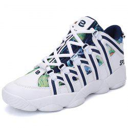 Printed Insert Athletic Shoes - BLUE
