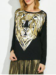 Lion Gilding Maternity Tee - BLACK ONE SIZE
