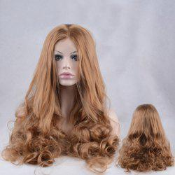 Shaggy Long Centre Parting Wavy Lace Front Synthetic Wig -