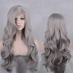 Long Side Parting Shaggy Body Wave Lace Front Synthetic Wig -