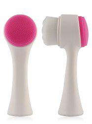 Multifunction Nylon Facial Cleansing Brush - WHITE