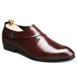Fashionable Elastic and Metal Design Formal Shoes For Men -