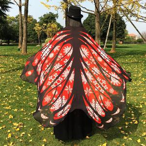 Christmas Snowflake Butterfly Chiffon Wing Cape -
