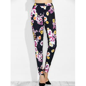 High Waist Floral Print Leggings with Pockets