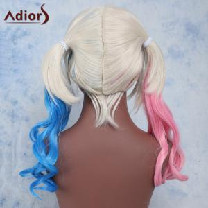 Long Wavy Centre Parting With Double Color Bunches Cosplay Synthetic Wig - COLORMIX