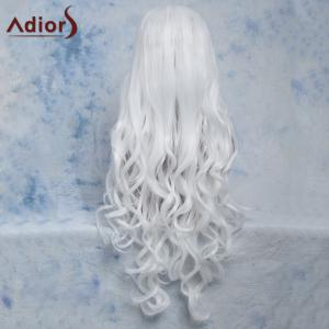 Long Wavy Centre Parting Cosplay Synthetic Wig - WHITE