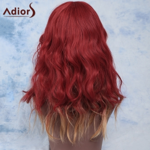 Colored Stunning Fluffy Long Straight Full Bang Synthetic Wig For Women - COLORMIX