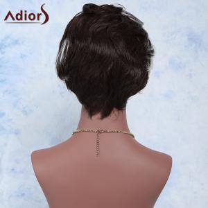 Fashion Mixed Color Short Fluffy Curly Side Bang Women's Synthetic Wig - COLORMIX
