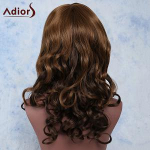 Mixed Color Side Bang Long Wavy Prevailing Women's Synthetic Hair Wig -